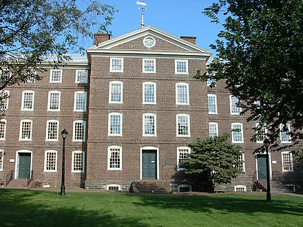 University Hall at Brown University is one of the oldest academic buildings in the United States. BrownUniversity-UniversityHall.jpg