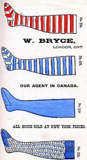 International Association for Professional Base Ball Players - Baseball socks for sale in Bryce's Base Ball Guide 1876