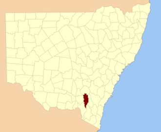 Buccleuch County - Location in New South Wales