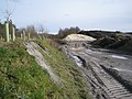 Bund and waste materials, Denistone Quarry - geograph.org.uk - 1750088.jpg