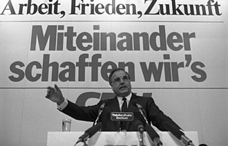 Helmut Kohl - Kohl at a campaign event for the 1983 West German federal election