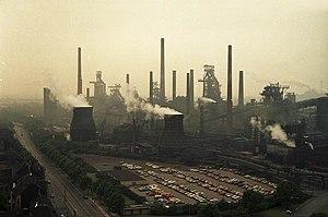 Thyssen AG - Thyssen steelworks in Duisburg (1988)