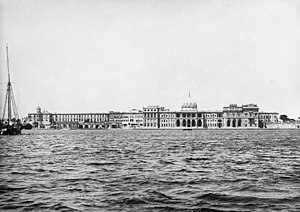Ras El Tin Palace - The palace seen from the Mediterranean Sea, 1931
