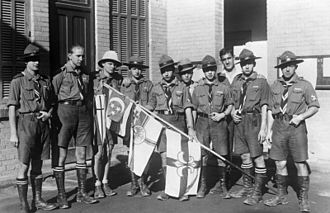 Egyptian Federation for Scouts and Girl Guides - German Kolonialpfadfinder visiting Cairo, 1931