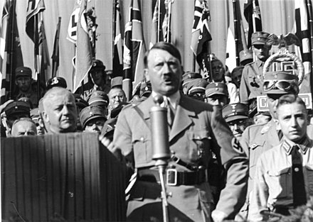 Adolf Hitler speaking in 1935