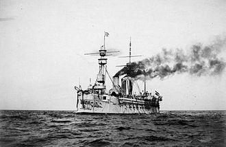 SMS König Wilhelm - König Wilhelm after the 1895–1896 reconstruction into an armored cruiser