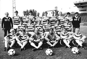 Hallescher FC - HFC Chemie team photo, Oberliga-season 1983.