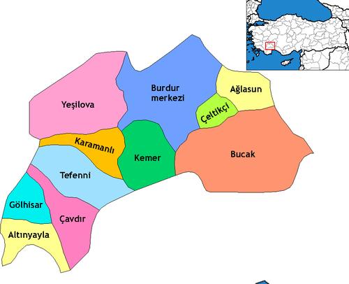 Burdur'un ilçeleri