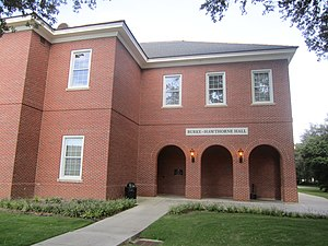 University of Louisiana at Lafayette - The Burke-Hawthorne Building, named for Walter Burke and Doris Hawthorne, houses the UL Lafayette communications department.
