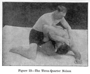 Nelson hold - Power half nelson.