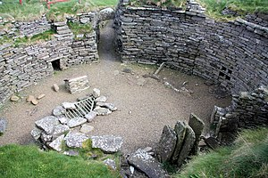 Burroughston Broch - Interior of Burroughston Broch