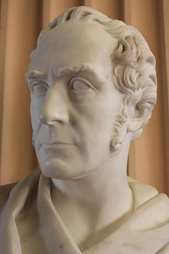 Sir William Hamilton, 9th Baronet - Bust of Sir William Hamilton, by William Brodie, Old College, University of Edinburgh