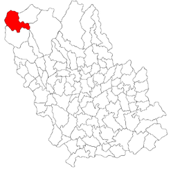 Location of Bușteni