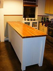 Butcher Block Work Table Kitchen