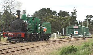 NSW Rail Museum - 2705 at Buxton station operating a  Picton - Mittagong loop railway line service