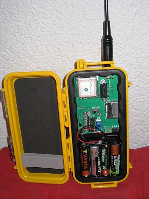 Automatic Packet Reporting System - APRS beacon transmitter with GPS receiver.