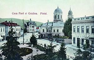 Câmpulung - Paol House (Casa Paol) and Grădina Pieței (Garden Square) in 1906