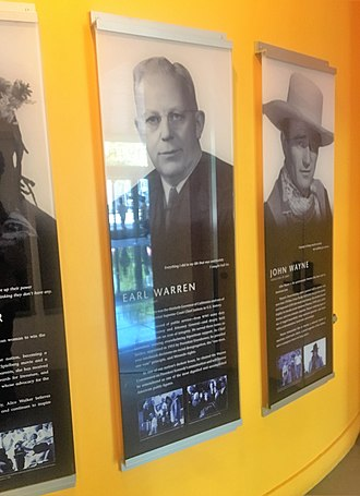 California Hall of Fame - Image: CA Hall of Fame Earl Warren and John Wayne Exhibits