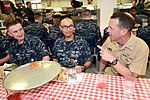 """CNO talks with recruits during """"Pizza Night"""" at Recruit Training Command. (35590644166).jpg"""