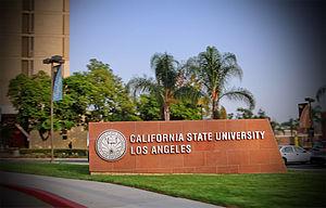 English: CSULA sign on Campus
