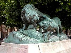 Auguste Cain - Image: Cain Lion et Sanglier