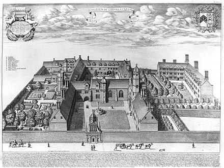 Gonville & Caius College in David Loggan's 1690 Cantabrigia illustrata Caius College, Cambridge by Loggan 1690 - cai loggan.jpg