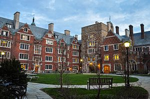 Hopper College - College courtyard, Spring 2015.