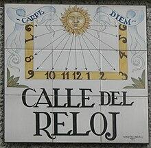 Calle del reloj wikipedia la enciclopedia libre for El ceramista cordoba