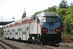 A Caltrain express train