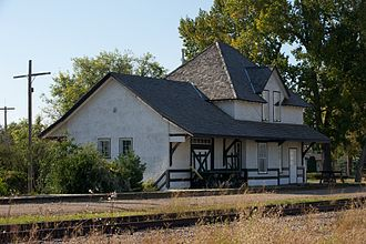 Edam, Saskatchewan - The historic Canadian Northern (later Canadian National) railway station in Edam