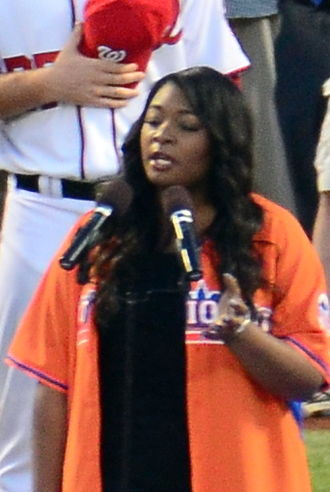 Candice Glover - Glover singing The Star-Spangled Banner at Citi Field in 2013