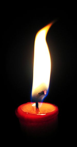 Candle wick burning.