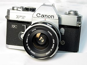 Canon FT QL - 1966's FT QL with FL 28mm f/3.5 lens.