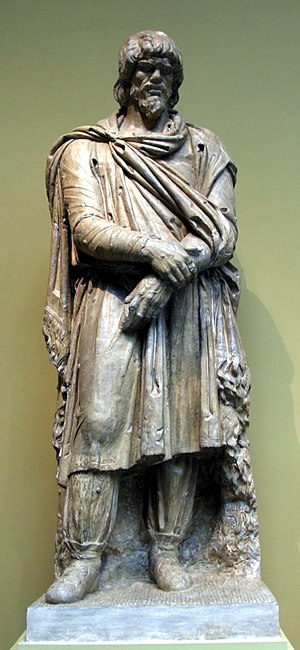 Dacians - Dacian cast in Pushkin Museum, after original in Lateran Museum. Early second century AD.