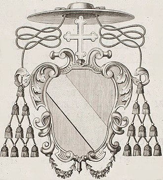 Hénin-Liétard - Coat of Cardinal d'Alcase