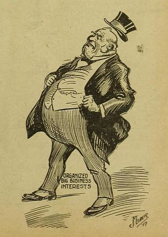 "Fat cat (term) - 1917 caricature of ""Organized Big Business Interests"""