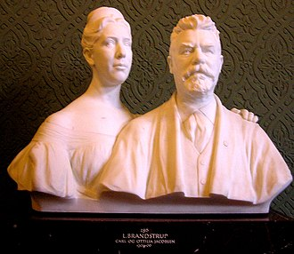 Ny Carlsberg Glyptotek - L. Brandstrup, the founders Carl and Ottilia Jacobsen