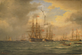 Carl Baagøe - Fregatten Jylland og korvetten Heimdal - 1875.png
