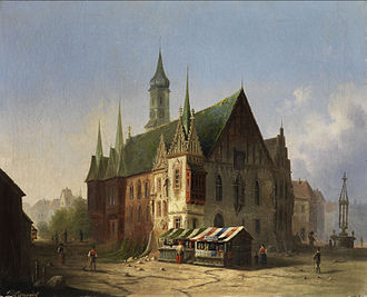 Wrocław Town Hall - Old Town Hall in 1800