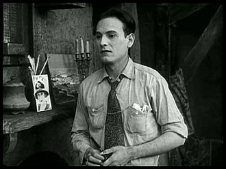 """Carl Miller (actor) - Miller as """"The Man"""" in The Kid (1921)"""