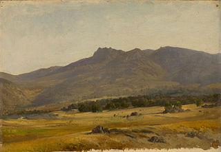 Valle en la sierra del Guadarrama