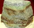 Carnotite in quartzose sandstone (Morrison Formation, Upper Jurassic; Colorado Plateau, USA) (32485416376).jpg
