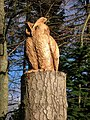 Carved owl in garden at Grantown on Spey - geograph.org.uk - 590202.jpg