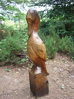 Carving of cormorant, Stover Country Park - geograph.org.uk - 1371790