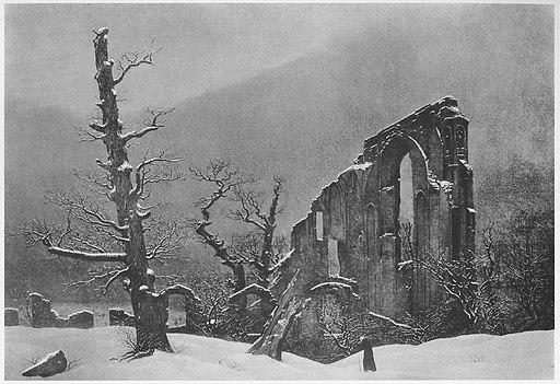 Caspar David Friedrich Winterlandschaft mit der Ruine des Klosters Eldena