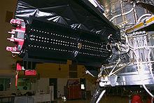 Particolare del generatore termoelettrico a radioisotopi della sonda Cassini