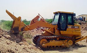 Tracked loader - Caterpillar tracked loader in action