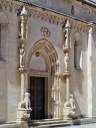 Šibenik Cathedral - The Lion Gate