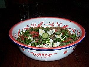 Senegalese cuisine - Ceebu Yapp, a beef version of thiéboudienne