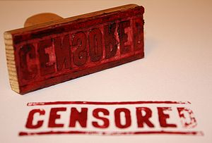 """Censored"" rubber stamp"